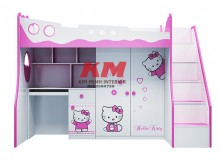 Giường Tầng Trẻ Em 3 Trong 1 Hello Kitty GTTE093