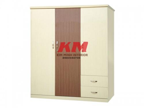 Tủ Áo Gỗ MFC 1M6 Màu Nâu Trắng Chống Trầy