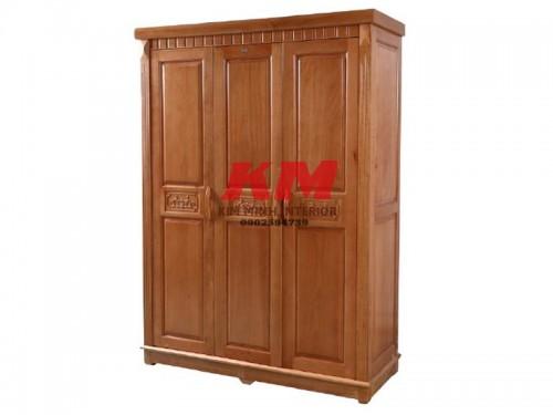 Tủ áo gỗ xoan 1m6 thiết kế đơn giản