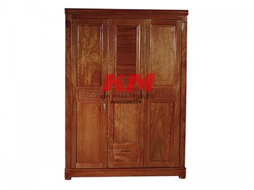 Tủ áo gỗ xoan đào 1m6 tay nắm âm