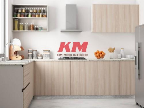 Tủ Bếp Giá Rẻ Gỗ MDF TBM030