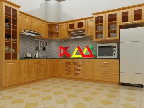 Tủ Bếp Gỗ Sồi TBS012