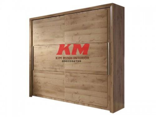 Tủ quần áo cửa lùa gỗ sồi 1m4