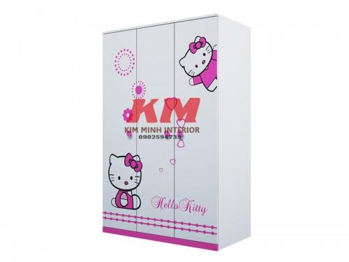 Tủ Quần Áo Trẻ Em Hello Kitty TATE008